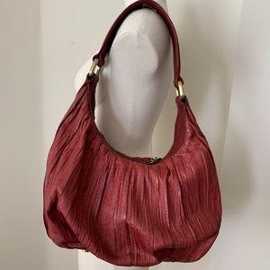DONALD J. PLINER Leather Burgundy/Red Hobo Bag
